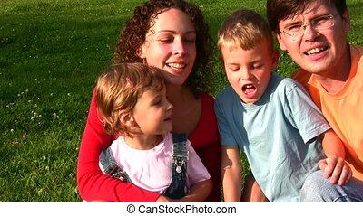 quatre, faces, famille, chant