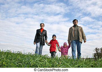 quatre, famille herbe