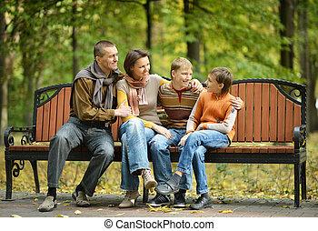 quatre, famille, séance