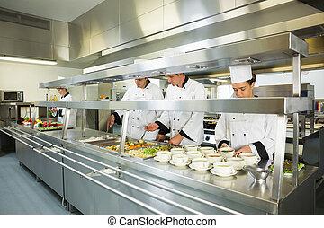 quatre, grand, chefs, fonctionnement, cuisine