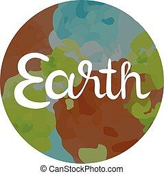 quatre, la terre, symbole, éléments