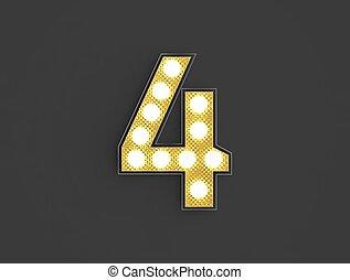 quatre, lumière, nombre, vendange