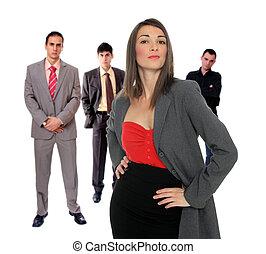 quatre personnes, equipe affaires