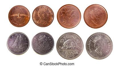 quatre, pièces, vieux, canadien