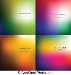 quatre, résumé, ensemble, fond, coloré