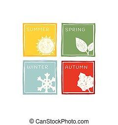 quatre saisons, year.