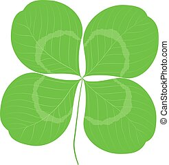 Quatrefoil leaf clover sign icon. Good Luck or Saint patrick...