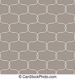 Quatrefoil oval taupe seamless tiny vector pattern. Geometric repeating background.