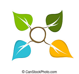 quatres saisons, abstract, pictogram