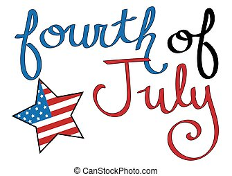 quatrième juillet, étoile