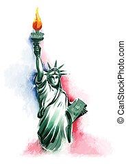 quatrième, juillet, amérique, jour, indépendance, heureux