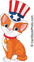 quatrième juillet, chaton