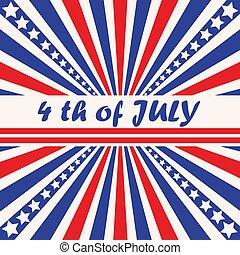 quatrième juillet, fond