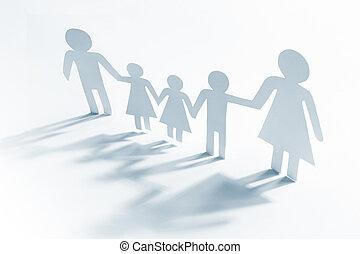 quatro, único, crianças, mãe
