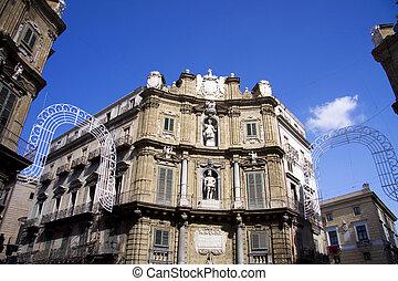 Quatro cante in Palermo - center of the city