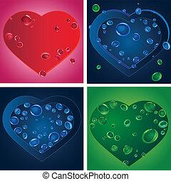 Quatro, Coração, silhuetas, jogo