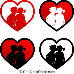 quatro, corações