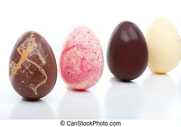 quatro, decadente, ovos páscoa