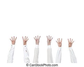 quatro, dedos