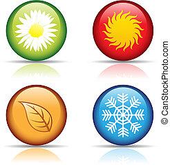 quatro estações, ícones