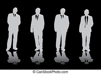 quatro, homens, negócio