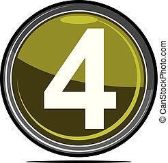 quatro, logotipo, desenho, modelo, vetorial