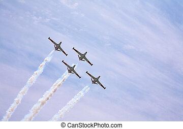 quatro, magnífico, aviões