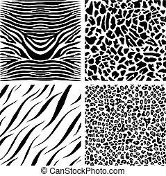 quatro, seamless, padrões