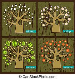 quattro, albero