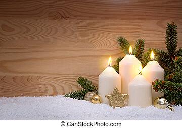 quattro, avvento, candles., urente
