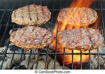 quattro, barbecue, hamburger