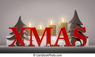 quattro, candele, tempo natale