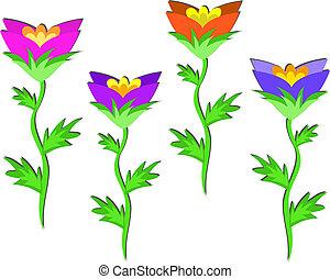 quattro fiori, fila