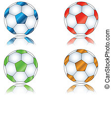 quattro, multi-colored, football