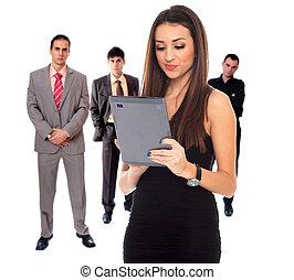 quattro persone, squadra affari