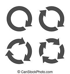 quattro, reload, freccia, icone