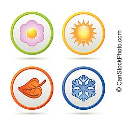 quattro, stagione, icone
