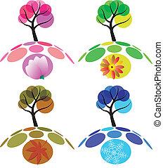 quattro stagioni, albero