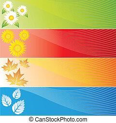 quattro stagioni, bandiere