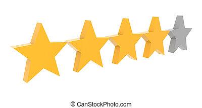 Valutazione stelle 3d valutazione sopra giallo for Quattro stelle arredamenti prezzi