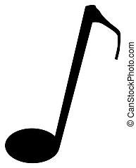 Quaver - The musical not quaver over a white background