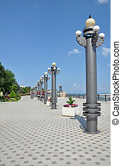 Quay, a tourist town of Anapa. Russia