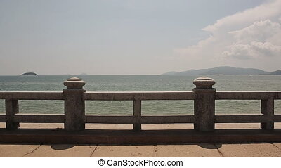 Quay in Nha Trang, Vietnam, in good weather