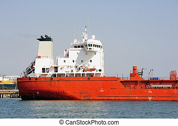 quay tanker to discharge its cargo in France with the...