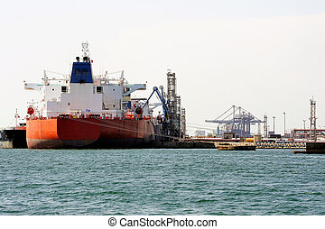 quay tanker to discharge its cargo in France with the ...