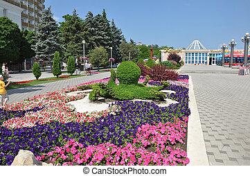 Quay, the city of Anapa, Russia