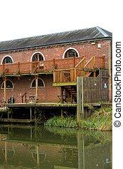 Quayside brick warehouse