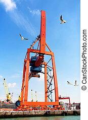 Quayside gantry crane
