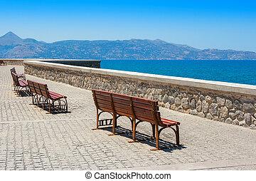 Quayside. Heraklion, Crete, Greece