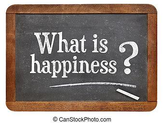 que, é, felicidade, pergunta
